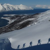Ski-touring Lyngen Norway
